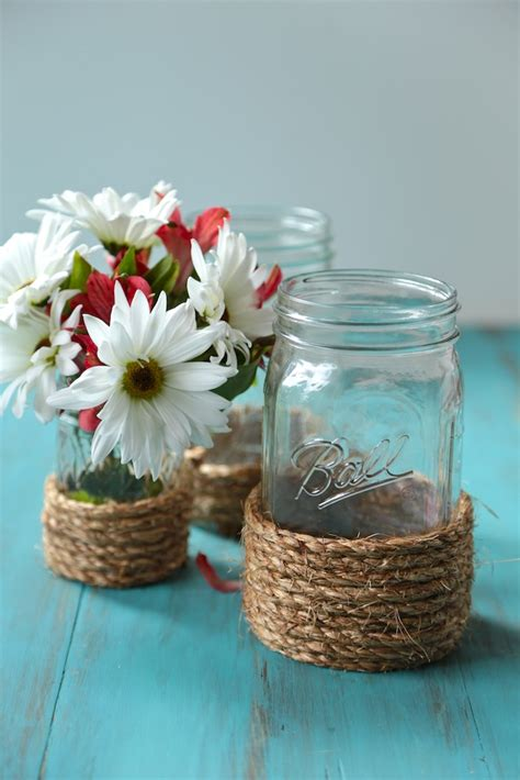 diy nautical mason jar vases country cleaver