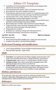 resume template for magazine editor choice image With cv editor