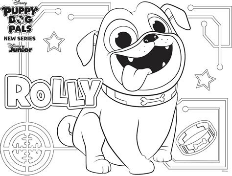 rolly coloring page family activity disney family