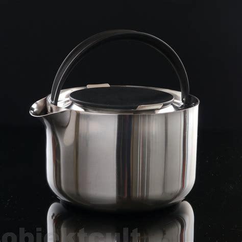 stelton teekanne stelton erik magnussen teekanne wasserkessel teapot kettle inox 1 6l top rar 80s ebay