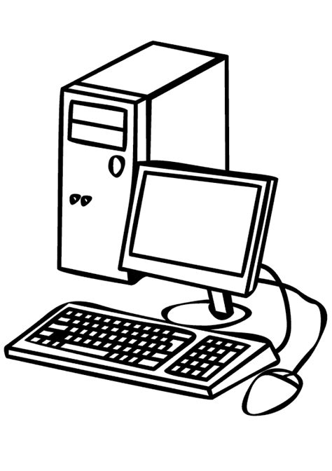 Computadores 8 Dibujos para Colorear 24