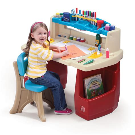 kids desk for two deluxe art master desk kids art desk step2