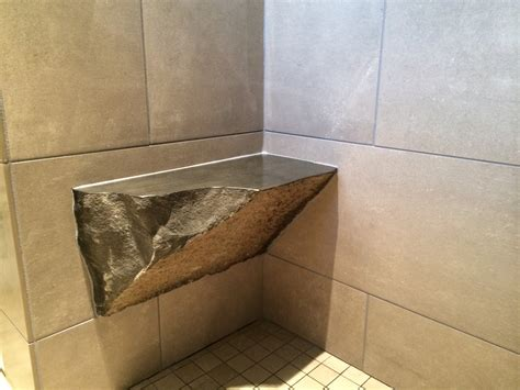 tiled shower seat accessories granite wall with corner shower bench