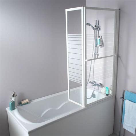 pare baignoire 2 volets pare baignoire relevable 2 volets profil 233 s blanc 140 x 104