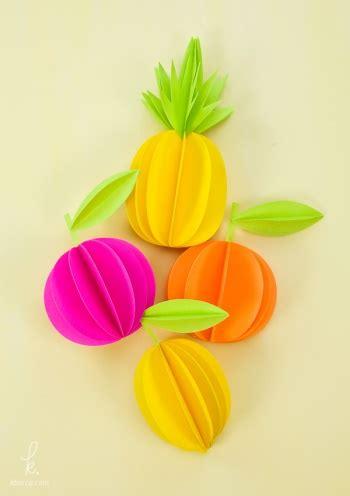 como trabajr con template en la compu diy 3d paper fruit decorations by paper crave project