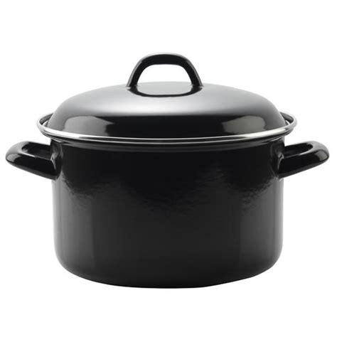 enamel stock pot swan 22cm enamel stock pot black cookware no1brands4you 3567