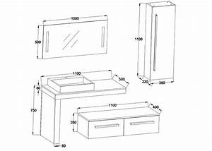 meuble salle de bain ref dis9250gt With dimensions salle de bain