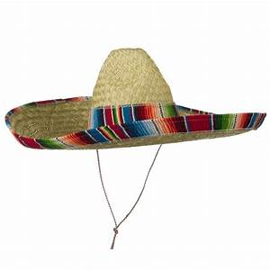 Mexican Sombrero Hat Adult Costume Spanish Fiesta Cinco De ...