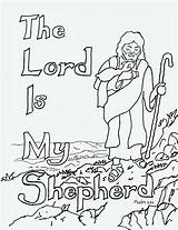 Shepherd Lord Coloring Pages Psalm sketch template