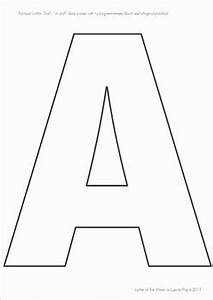 Letter Outlines Printable Letter Templates For Upper And Lower Case Letters