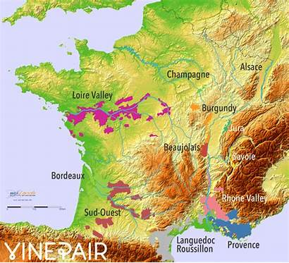 Wine Relief Regions Animated Maps France Map