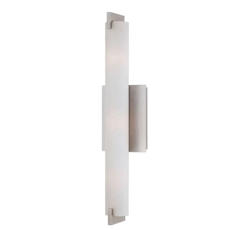 eurofase wall sconce eurofase zuma collection 3 light brushed nickel wall