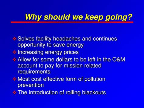 should we keep the ppt federal energy management program powerpoint presentation id 182193