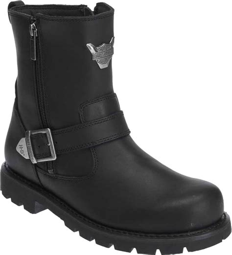 mens leather motorcycle boots harley davidson men 39 s flagstone black leather motorcycle