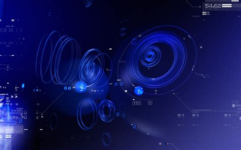 Blue Tech Circles Wallpapers