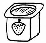 Yogurt Dibujos Coloring Lacteos Productos Colorear Pintar Template Yogur Sketch sketch template
