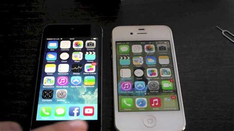 iphone 4s vs iphone 5s iphone 5s vs iphone 4s boot test