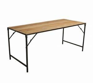 Table Pliante Metal : oneworld interiors table pliante industrielle metal en ~ Teatrodelosmanantiales.com Idées de Décoration