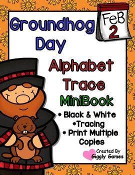 groundhog day alphabet trace  write mini book
