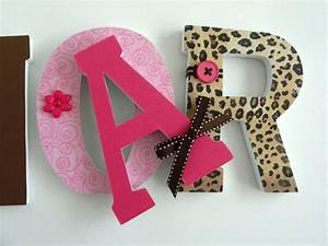 custom wood letters leopard nursery decor baby girl With personalized letters for nursery