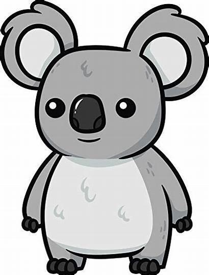 Koala Cartoon Clipart Vector Bear Illustration Clip