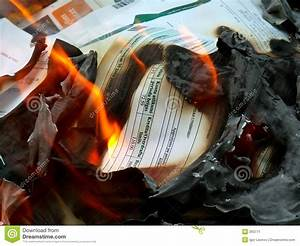 documents in fire 2 stock image image 263771 With burning documents
