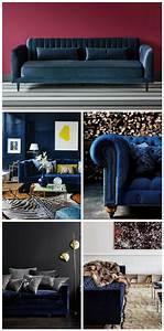 Canapé Velours Bleu Canard : canap en velours tendance d co clemaroundthecorner ~ Teatrodelosmanantiales.com Idées de Décoration