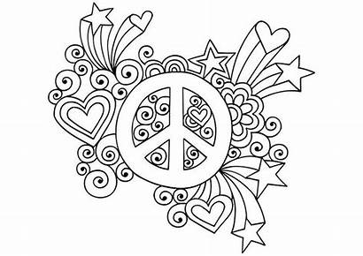 Coloring Peace Pages Sign Adult Printable Adults
