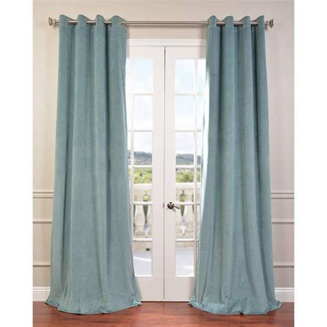 108 Inch Blackout Drapes by Signature Velvet Grommet 108 Inch Blackout Curtain Panel