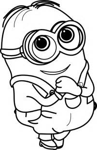 Cute Bob Minion Coloring Pages