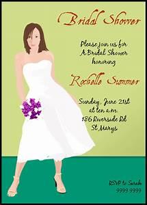 Custom bridal shower invitation samples for Sample wedding shower invitations