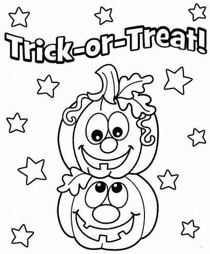 Pages Halloween Pumpkins Smiling Preschoolers Coloring Craft