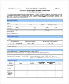 Employment Job Application Forms