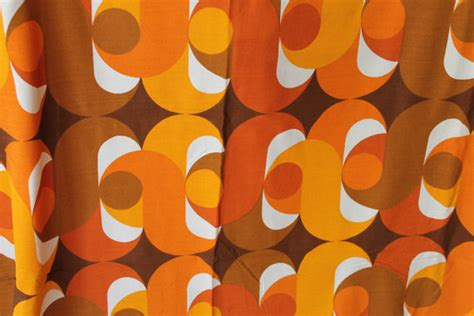 incroyable de tissus pour rideaux 233 norme vintage 70 s original