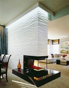 16, Unique, Modern, Fireplace, Design, Ideas