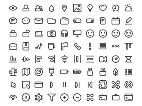 100 minimal icons sketch freebie free resource