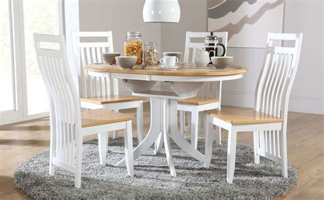 two tone round dining table set hudson white two tone round extending dining room table