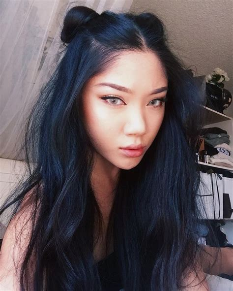 Jet Black Hair Looks Healthier by Best 20 Blue Black Hair Color Ideas On
