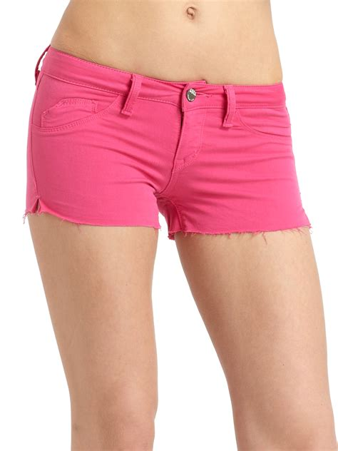 colored shorts colored denim shorts hardon clothes