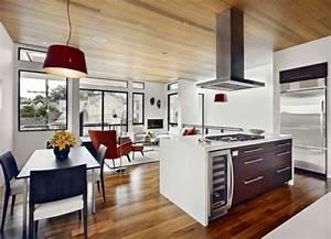Küche Und Wohnzimmer In Einem Kleinen Raum : modernes wohnzimmer einrichten wohn und k chenraum kombinieren ~ Markanthonyermac.com Haus und Dekorationen