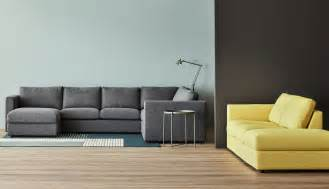 Grey Sofa With Chaise by Vimle