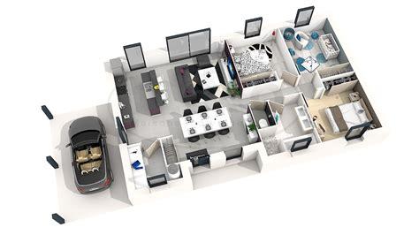 plan maison 3 chambre plan de maison moderne 3 chambres 3d maison moderne