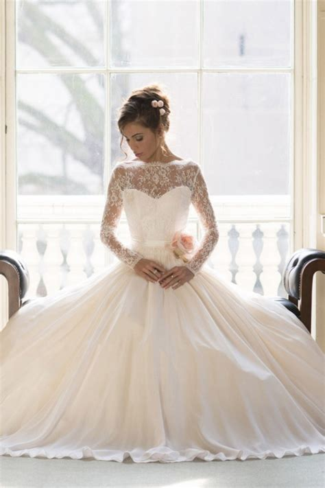 elegant lace ball gown princess wedding dresses 2018 long