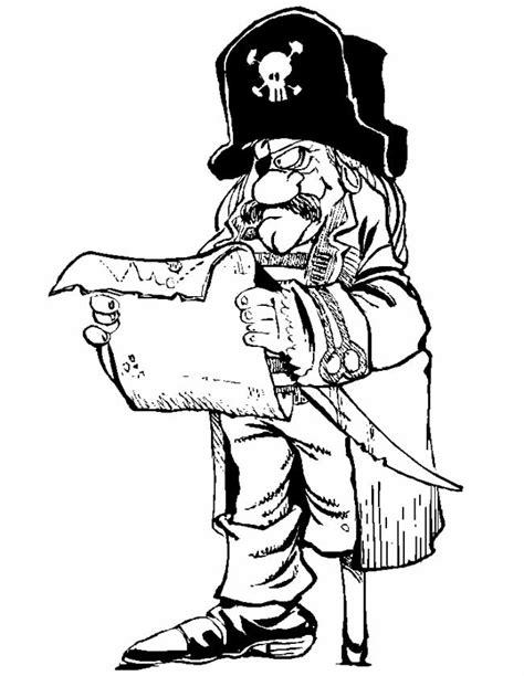 Kleurplaat Piraten Schatkaart by Kleuren Nu Piraat Bekijkt De Schatkaart Kleurplaten