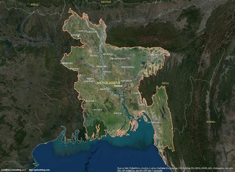 Bangladesh Satellite Maps