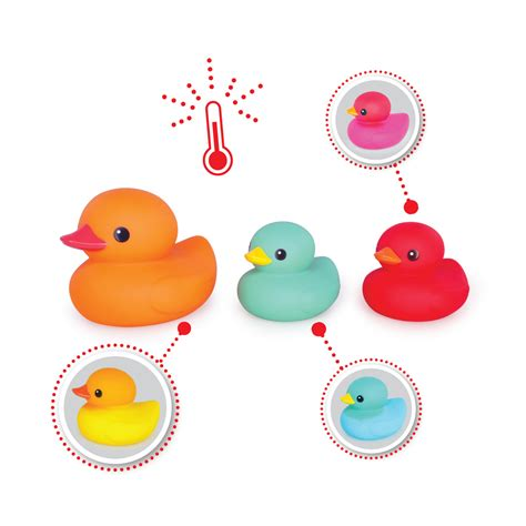 color changing toys tolo toys blushing colour changing bath ducks set 3