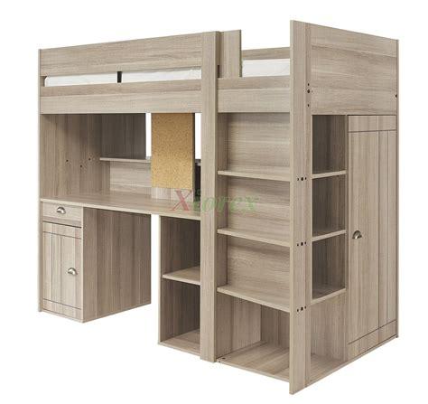lit bureau gautier gami largo loft beds for canada with desk closet