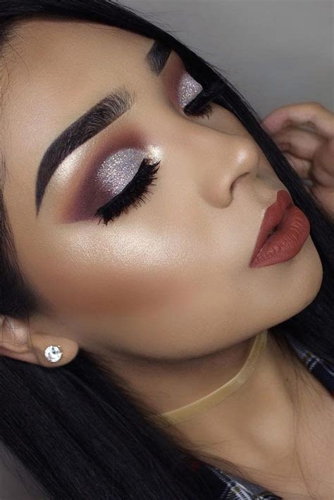 silver eyeshadow ideas  pinterest