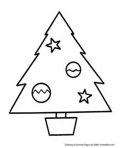simple christmas tree coloring page search