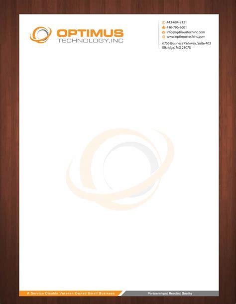 professional letterhead design  optimus